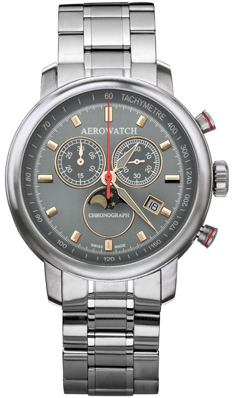 AEROWATCH RENAISSANCE CHRONOGRAPH MOON PHASES 84936 AA06 M