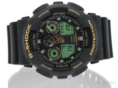 ZEGAREK MĘSKI CASIO GA-100GBX-1A9ER BLACK AND GOLD